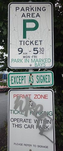 Haymarket Carpark Signage